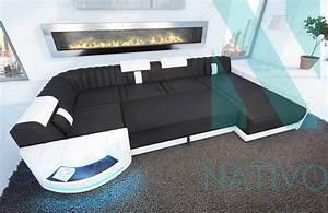 canape atlantis xl ac eclairage led nativo mobilier design With canapé design avec led