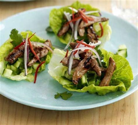 Prawn Taco Boats by Teriyaki Beef Lettuce Cups Recipe Food