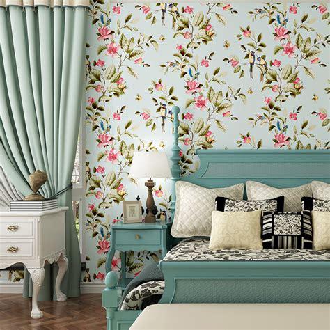 american vintage floral bedroom wallpaper walling shop