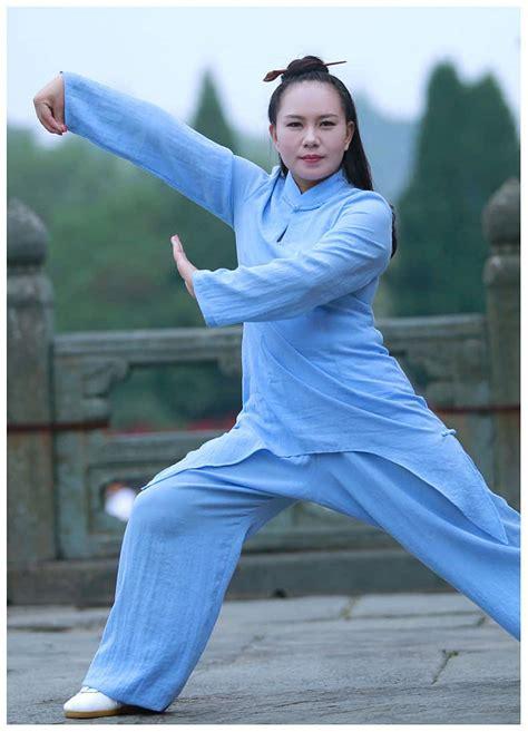 traditional tai chi uniform for women sky blue internal
