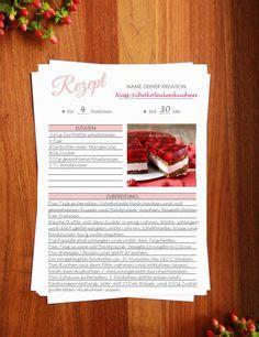 rezeptvorlage zum drucken printable recipe template