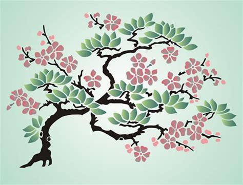 japanese cherry blossom design stencil designs from stencil kingdom