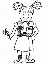 Brownie Scout Clip Cliparts Printable Coloring Pages Promise sketch template