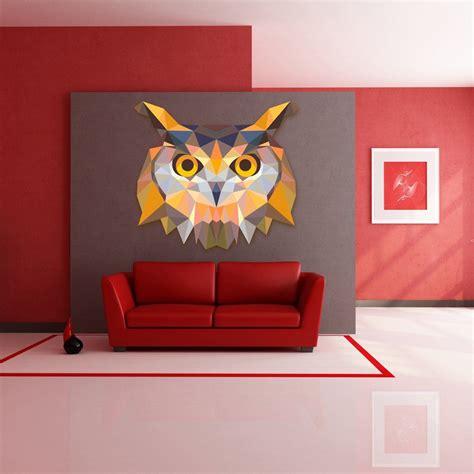 Pūce - Daudzkrāsu Sienas Uzlīme | Home decor, Home decor ...