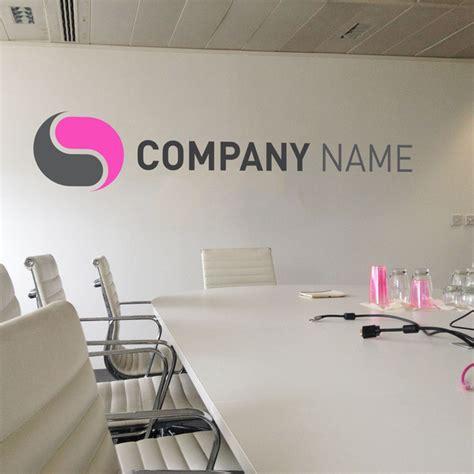 bureau personnalisé logo autocollant mural pour bureau stickers personnalisé