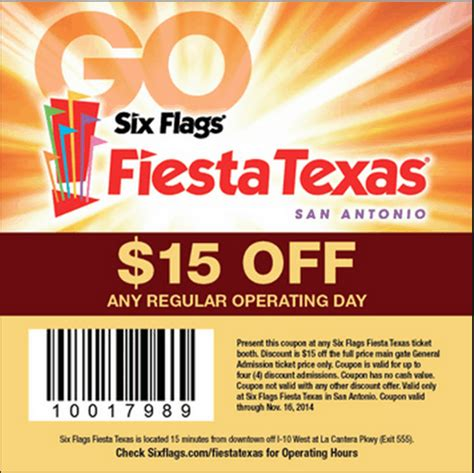 19928 Six Flags Tickets Coupons Discounts by Six Flags Coupons Printable And Coupon Code