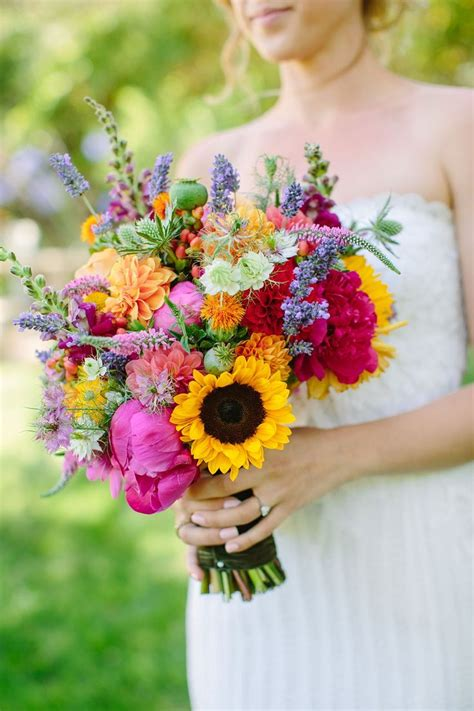 bright wedding flowers ideas  pinterest