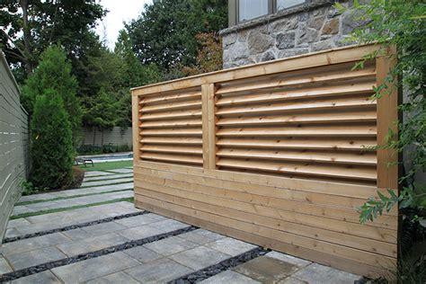 Modern Minimalist Fences - Montreal Outdoor Living