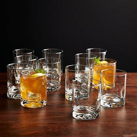 Set Of 12 Impressions Double Oldfashioned Glasses  Crate And Barrel