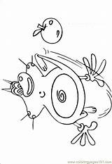 Oggy Coloring Cockroaches sketch template