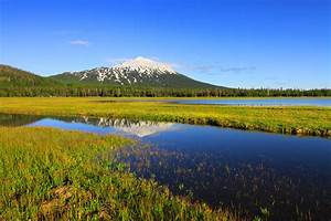 Mt Bachelor Summer Bend Oregon Stock Photography