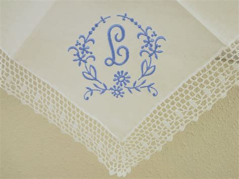 monogram m handkerchiefs initial handkerchief by heirloom design 1 initial monogrammed handkerchief