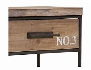 Meuble Tele Industriel : meuble tv bois industriel pas cher vical home ~ Teatrodelosmanantiales.com Idées de Décoration