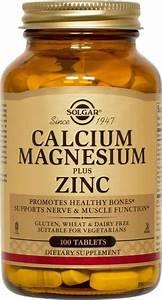Calcium  Magnesium  Zinc Solgar 100 Tabs
