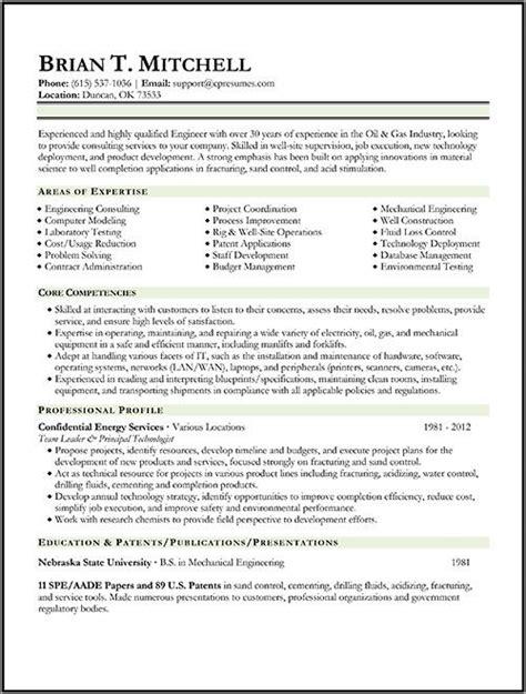 oil gas engineer resume sample engineering resume
