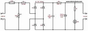 Transformerless Low Cost Dc Power Supply   Resistive  U0026 Capacitive
