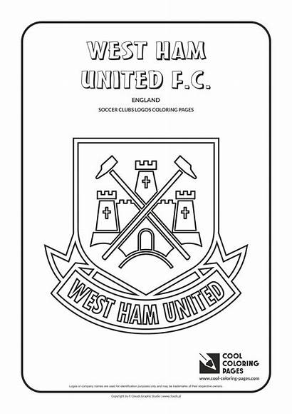 Coloring Pages Logos Ham West Soccer Cool