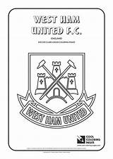 Coloring Ham Pages Logos Soccer West United Cool Clubs Football College Teams Manchester Printable Team Drawing Fc Printables League Belgium sketch template