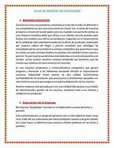 Plan De Negocio De Una Pasteleria By Astrid Leonardo
