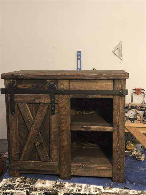 You can create a delightful home coffee bar setup that will look perfect in your kitchen or apartment. Excited to share this item from my #etsy shop: Farmhouse style Coffee bar with barn door slider ...