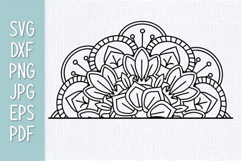 If you haven't already, be sure to join our newsletter list. Half Mandala SVG