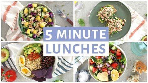 easy  minute lunch recipes healthy lunch ideas youtube