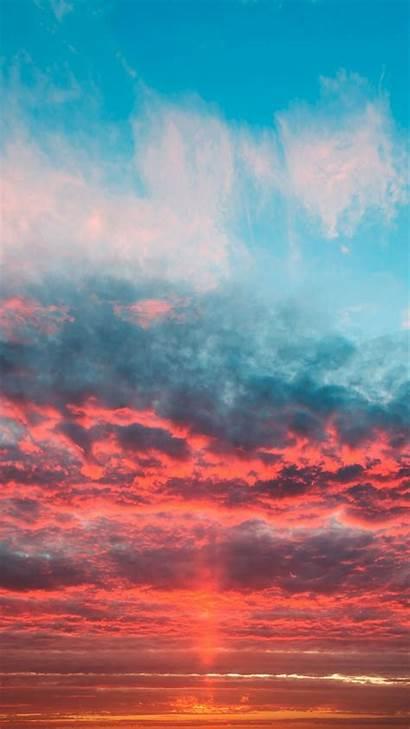 Orange Sunset Clouds Sky Wallpapers Aesthetic Desktop