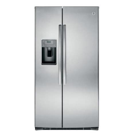 side by side refrigerator reviews ge 36 in w 25 4 cu ft side by side refrigerator in