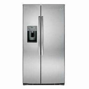 Ge 25 3 Cu  Ft  Side By Side Refrigerator In Stainless