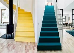 peindre un escalier 5 idees qui vont vous inspirer With quelle couleur pour un escalier