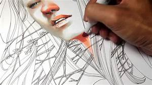 A killer timelapse from a talented illustrator using for Beautiful marker and pen portrait time lapse