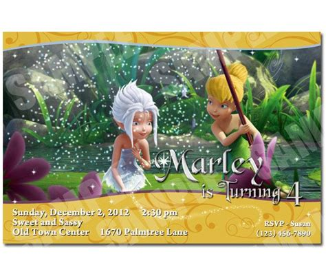 foto de Tinkerbell and Periwinkle Invitation Printable