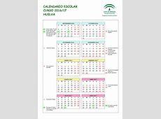 Calendario escolares 20162017 Huelva Imagenes Educativas
