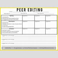 Peer Editing Sheet By Mrwatts  Teachers Pay Teachers