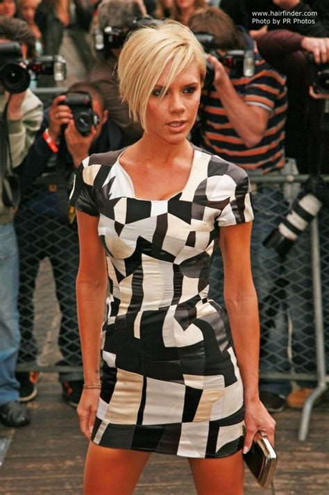 victoria beckhams short hairstyle shaped     claudia schiffer  long hair