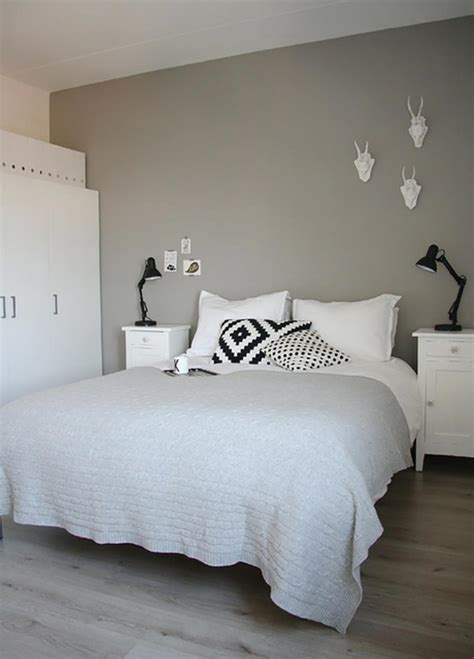chambre en gris et blanc murs et ameublement chambre tout en gris tendance