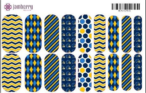 San Diego Chargers Inspired Jamberry Nails. Contact Me If