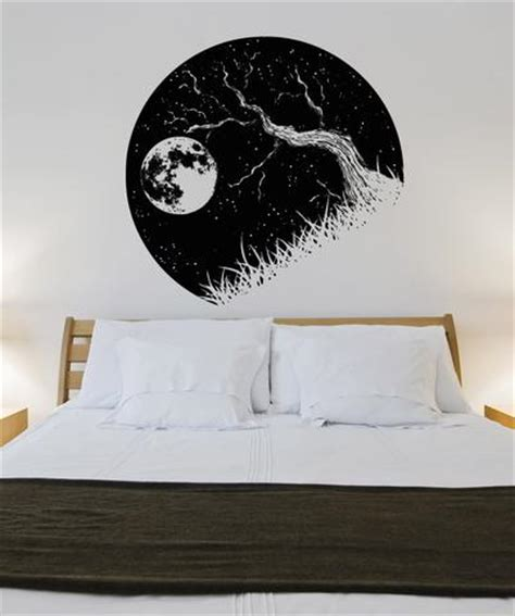 wall stickers wall decals moonlight branch vinyl wall decal sticker tree branch and moon os aa1562