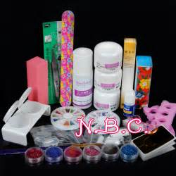 Pro nail art tips kit diy acrylic powder liquid