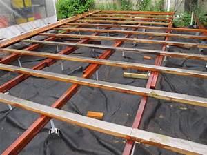 Comment Faire Une Terrasse Pas Cher : construction d 39 une terrasse en bois en hauteur sur sol ~ Edinachiropracticcenter.com Idées de Décoration