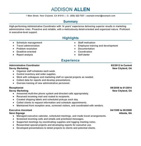 resume writing services creative industry
