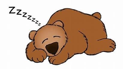 Bear Clipart Snoring Sleeping Cave Clip Transparent