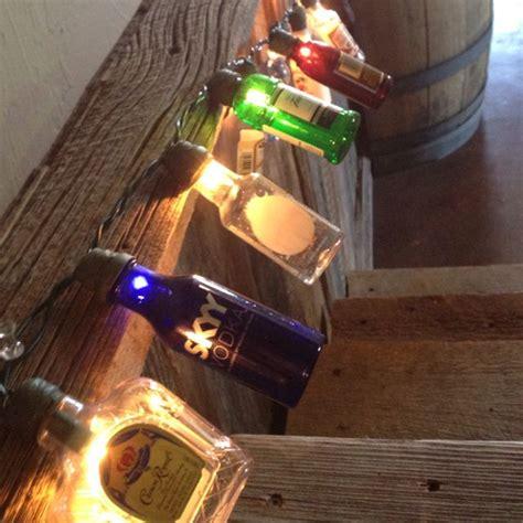 mini liquor bottle string lights birthday bash