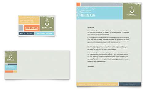 homeless shelter business card letterhead template design