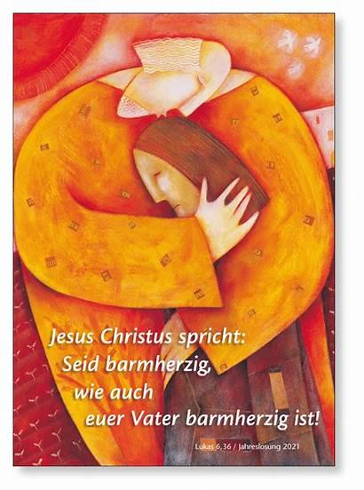 Barmherzig Jahreslosung Poster Jesus Seid