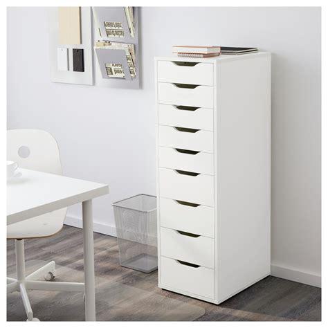 ikea armoire rangement bureau alex drawer unit with 9 drawers white 36x116 cm ikea