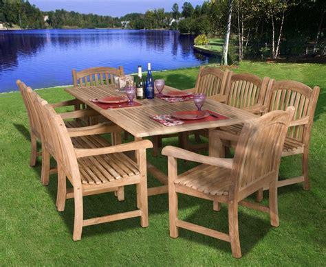 Amazonia Teak Newcastle 9pc Teak Outdoor Patio Dining Set