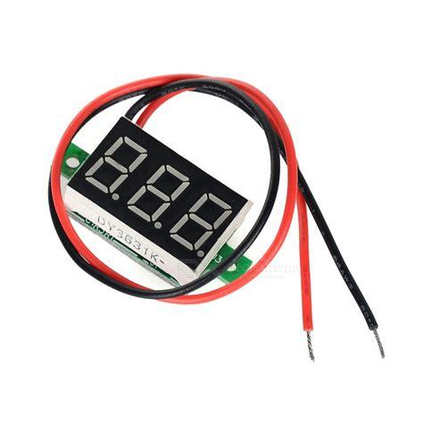 diy 0 36 quot 3 digit 2 wire dc 4 5 30v light led digital voltmeter voltage display module
