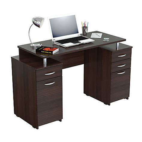 office depot espresso desk inval computer desk with 4 drawers espresso wengue by