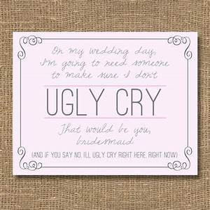 shop be my bridesmaid invitation cards on wanelo With will you be my bridesmaid letter template